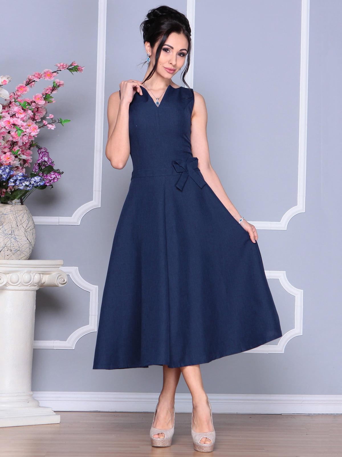 Платье темно-синее | 4186789 | фото 4