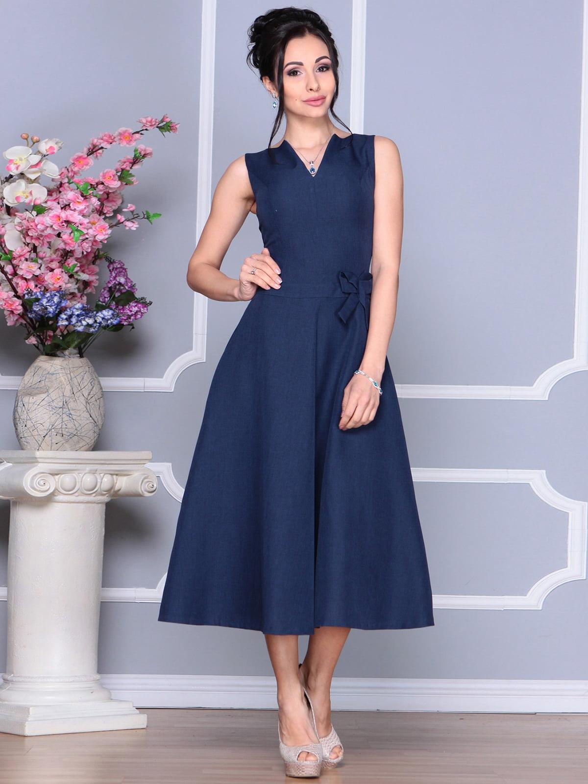 Платье темно-синее | 4186789 | фото 5