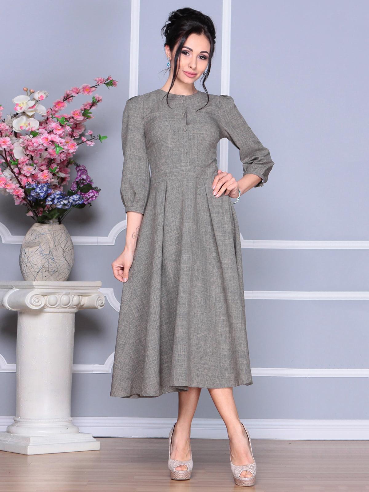 Платье цвета бежевый хаки   4186802