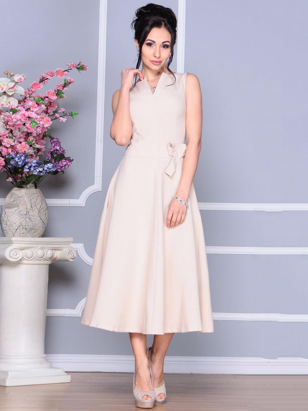 Платье бежевое | 4186803