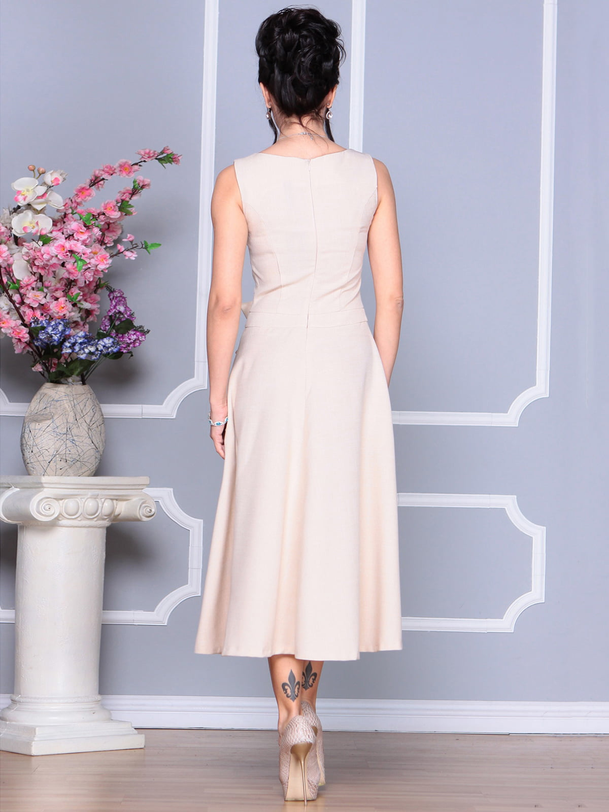 Платье бежевое | 4186803 | фото 2