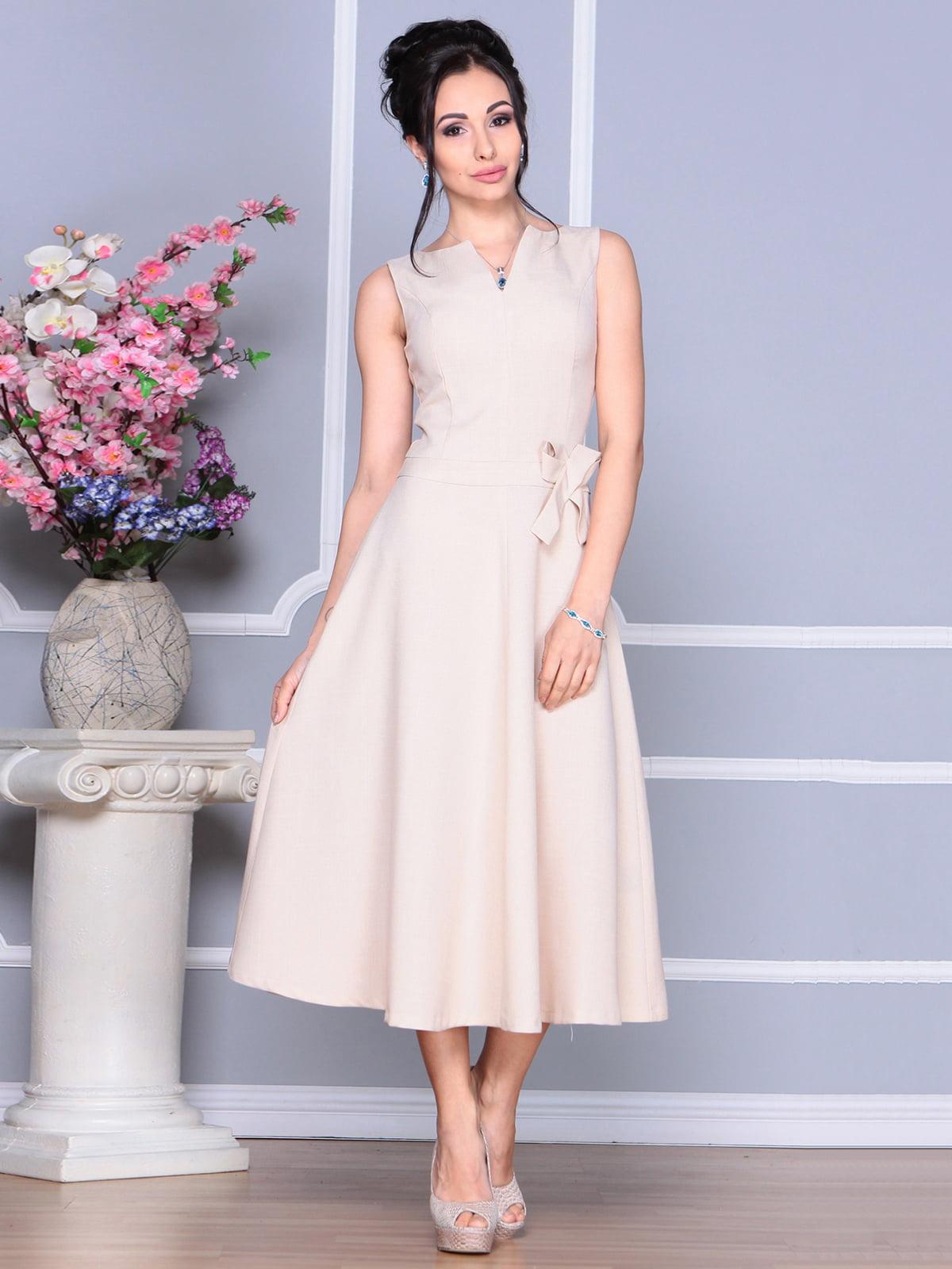 Платье бежевое | 4186803 | фото 3