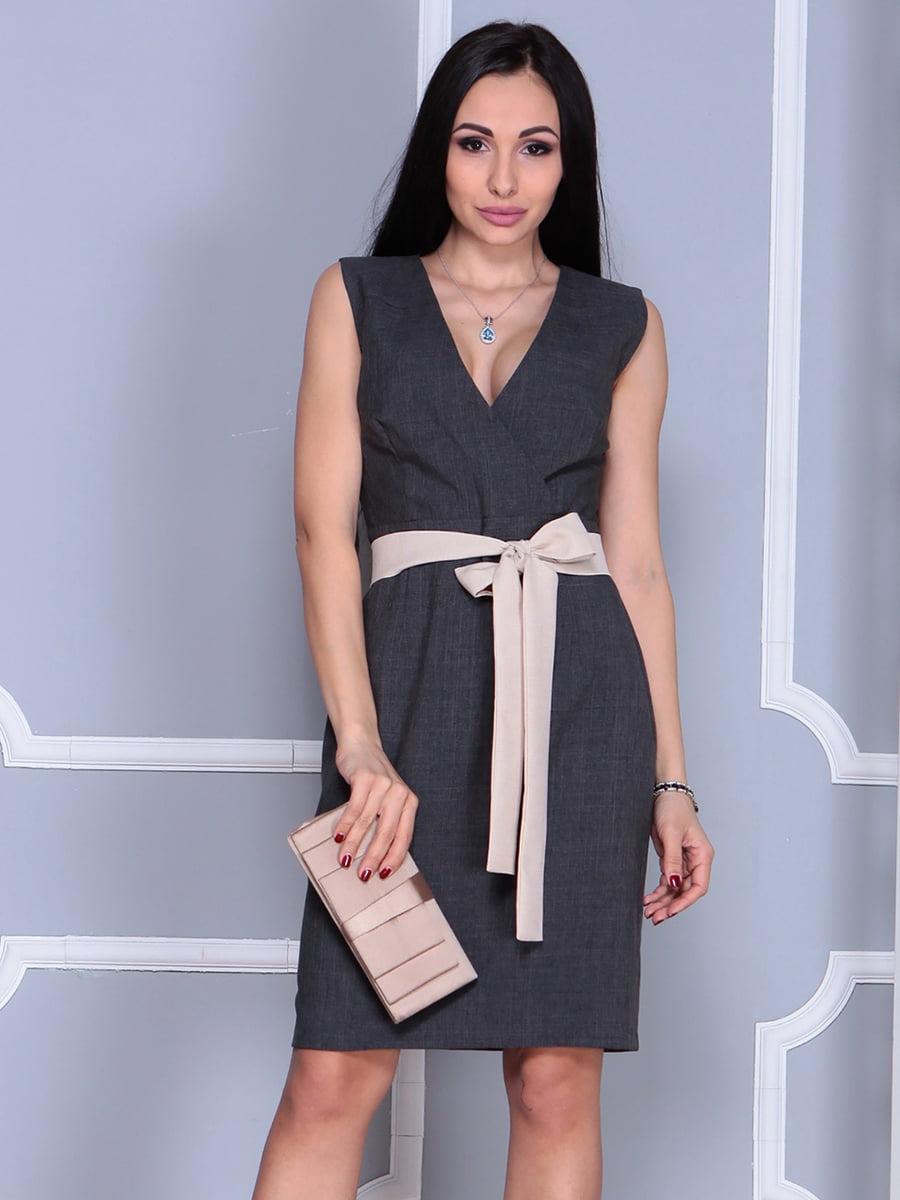 Сукня кольору графіт   4186805