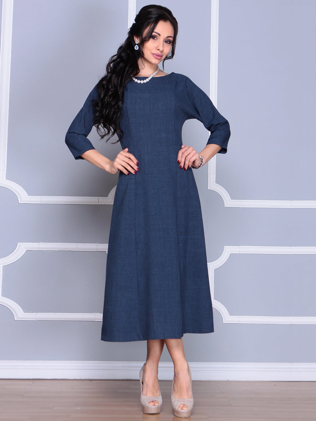 Платье темно-синее   4186806   фото 4