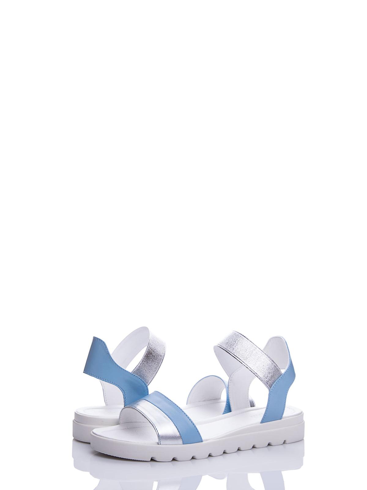 Сандалії блакитні | 4187075 | фото 2