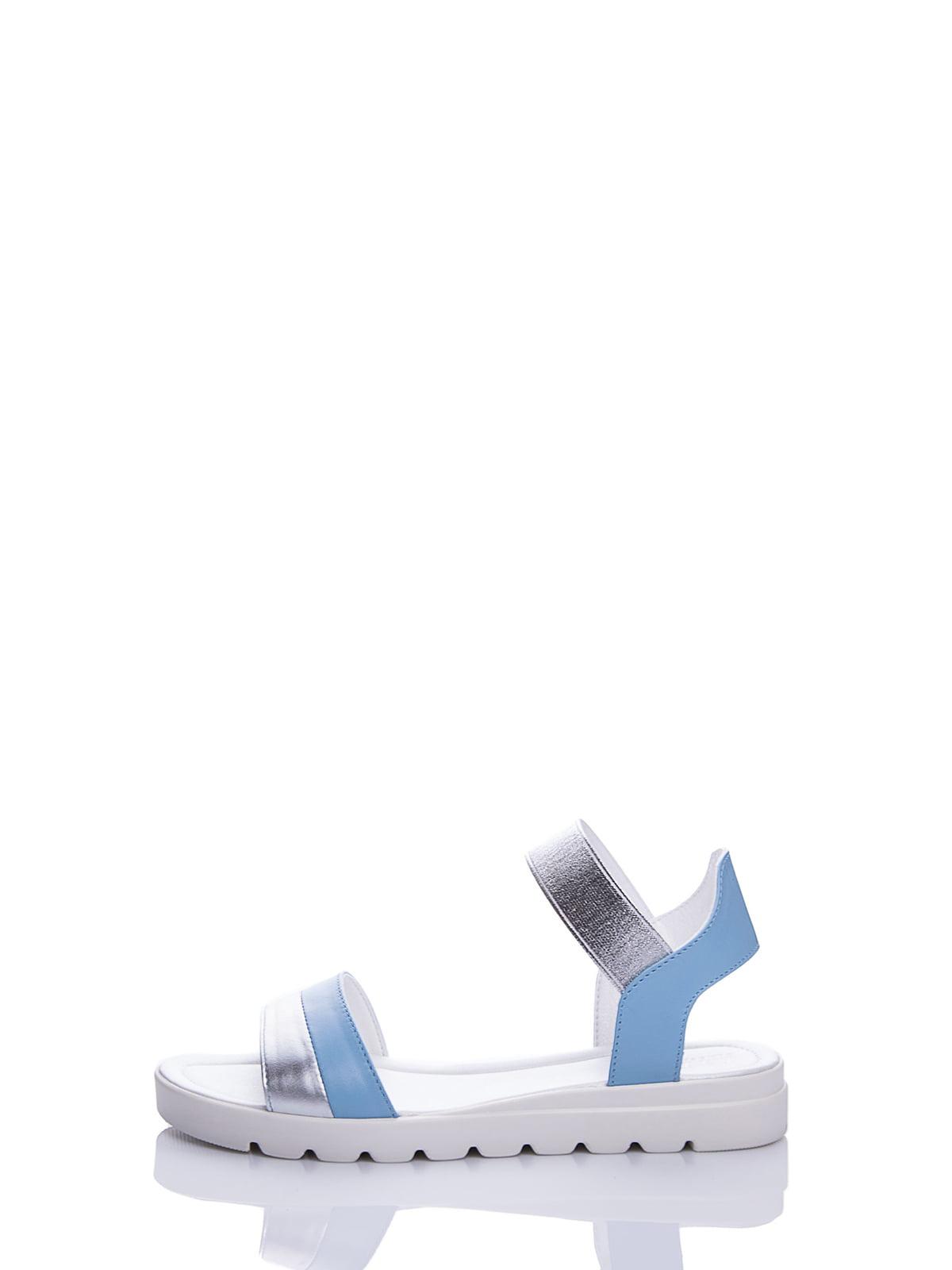 Сандалії блакитні | 4187075 | фото 4