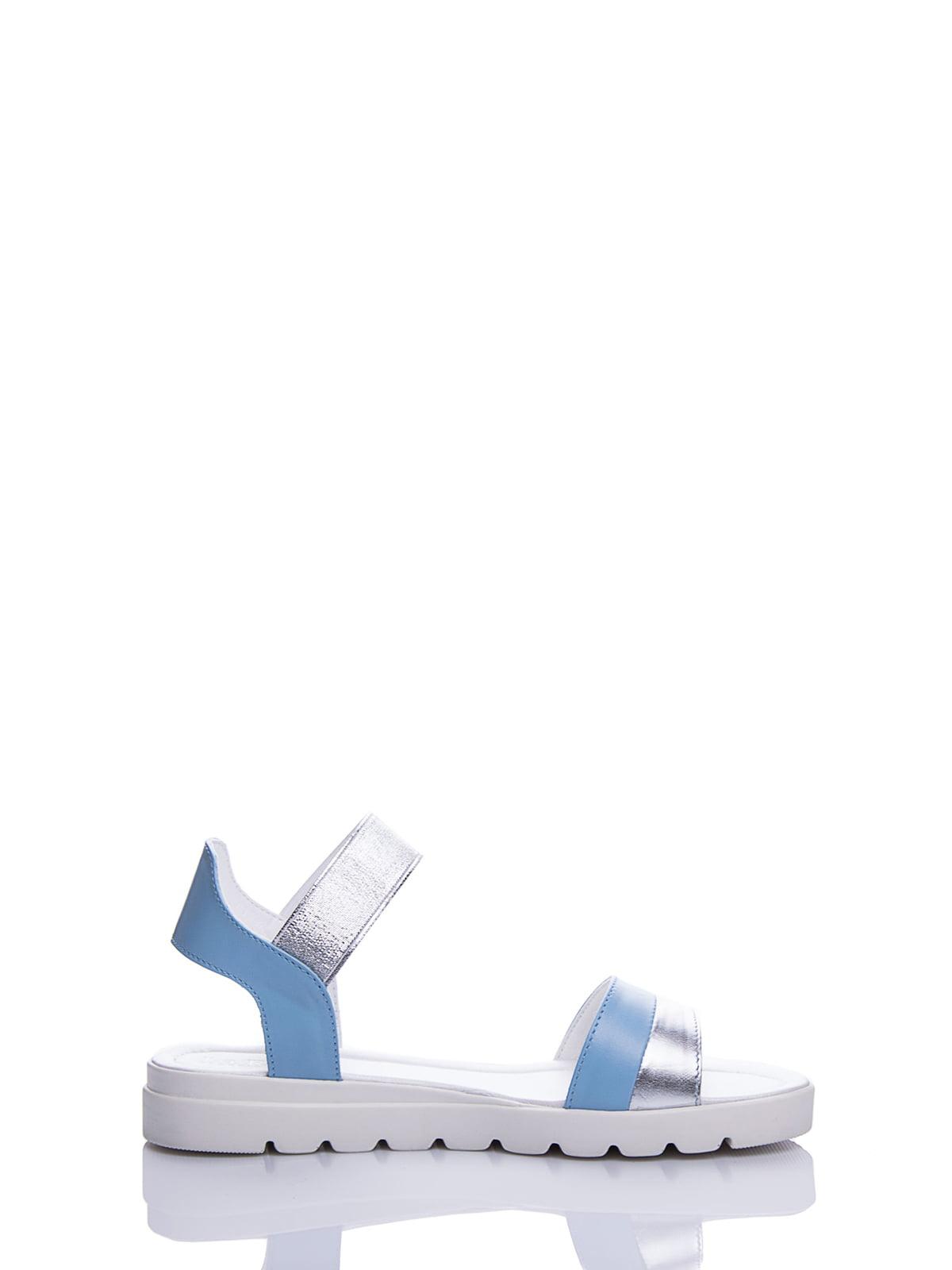 Сандалії блакитні | 4187075 | фото 5