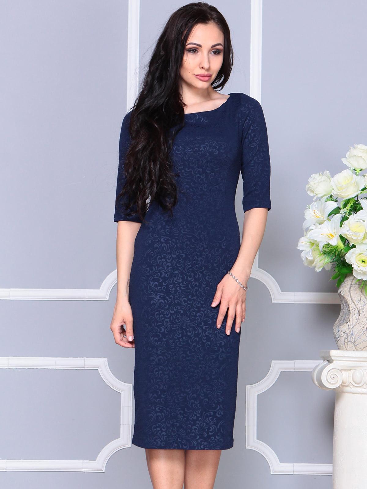 Платье темно-синее | 4187854 | фото 5