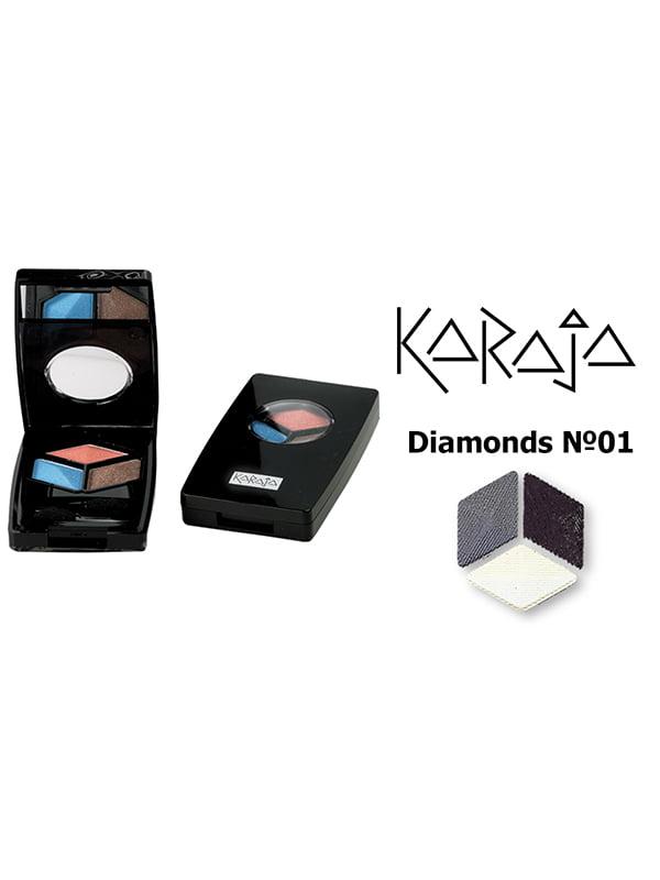 Тіні для повік потрійні Diamonds — тон №1 (4,5 г) | 3999683