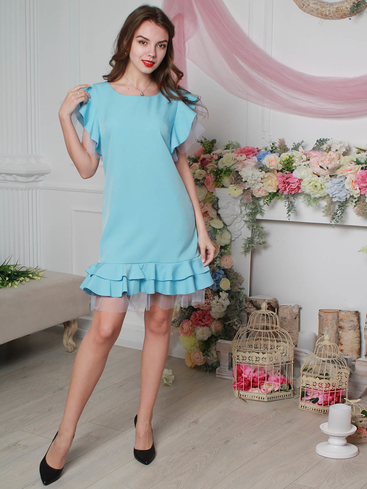 Платье голубое | 4190378