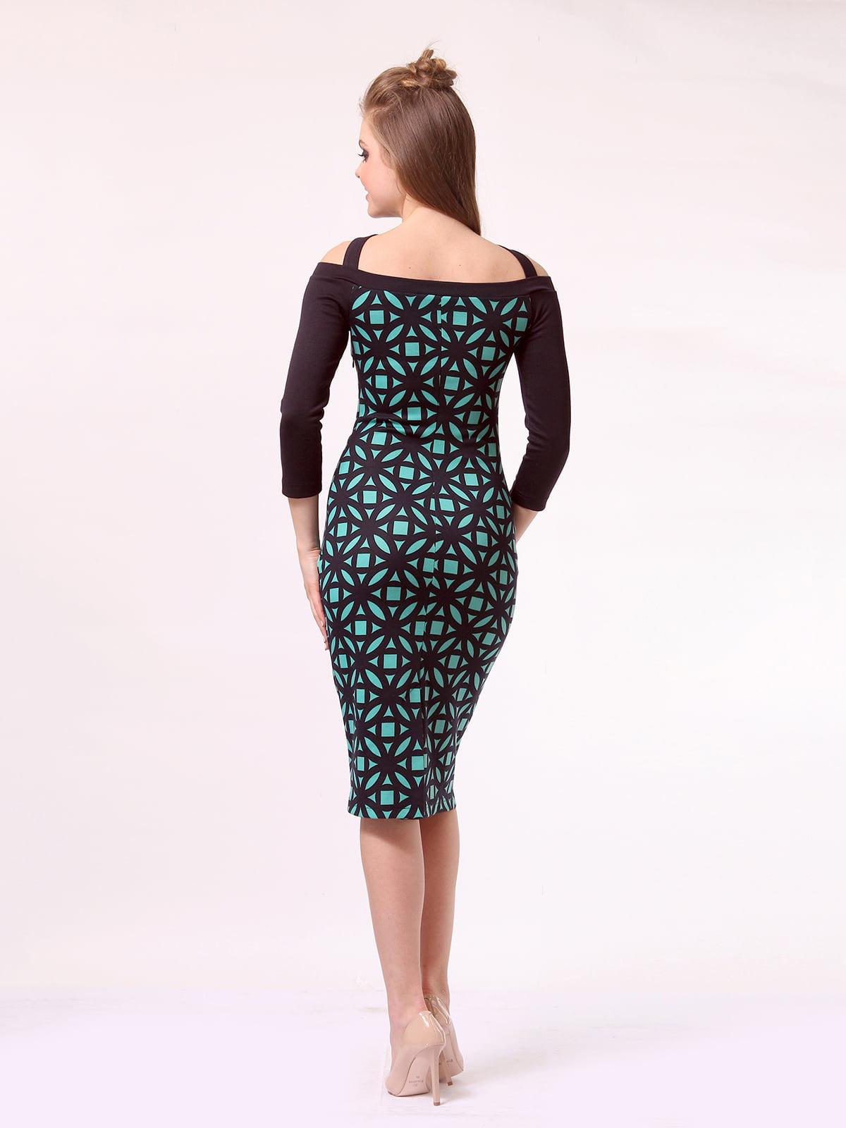 Платье темно-синее в принт   4170050   фото 3