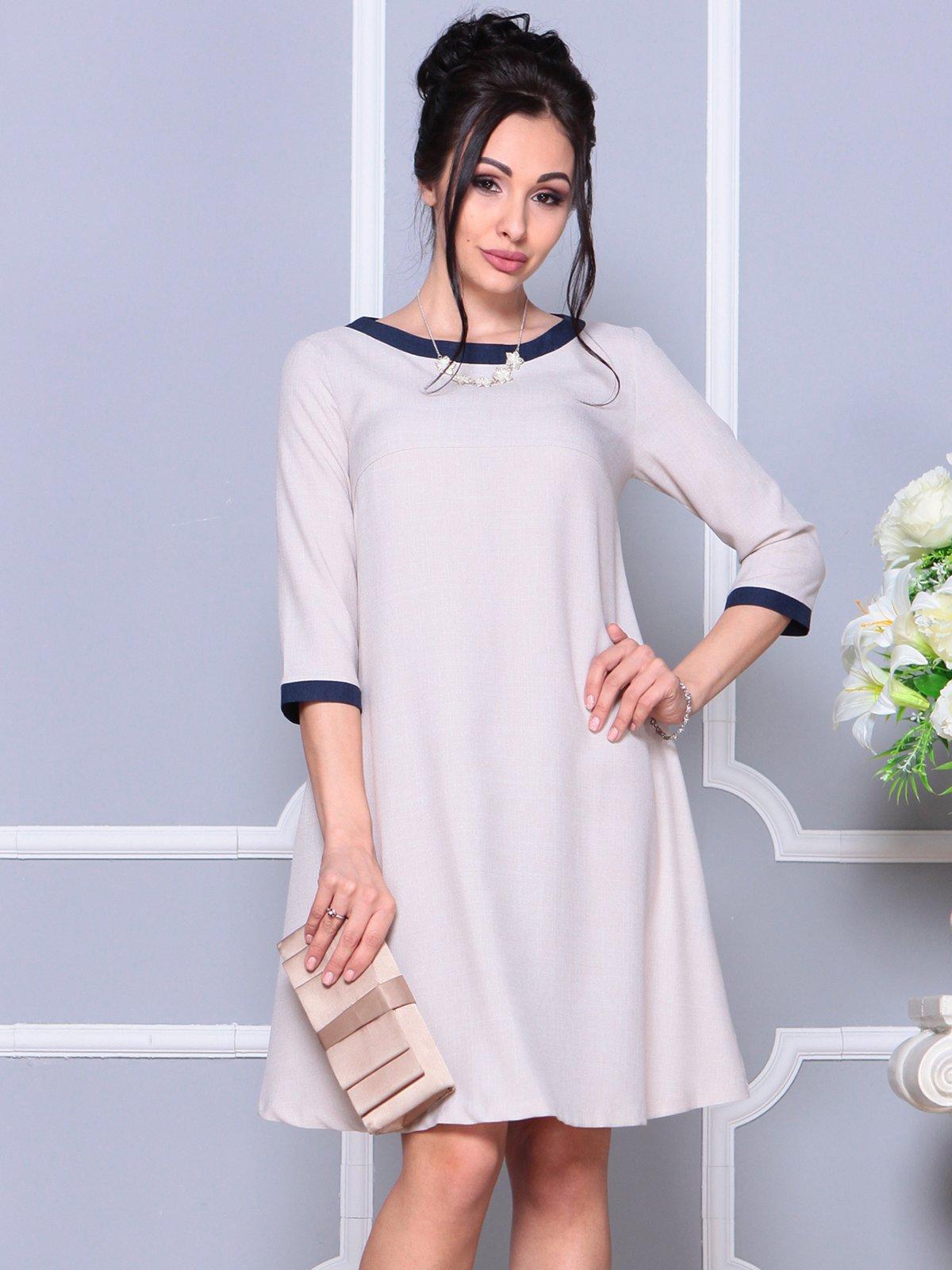 Платье бежевое | 4191517 | фото 3