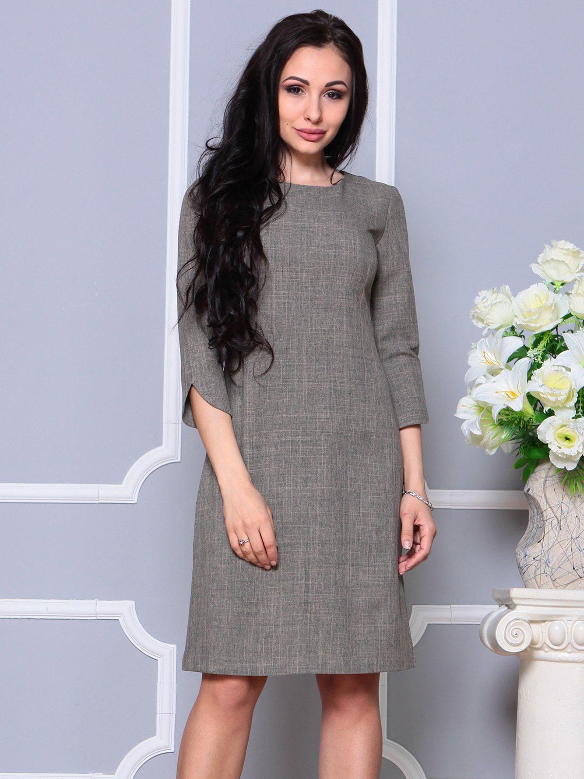 Сукня кольору бежевий хакі | 4191518