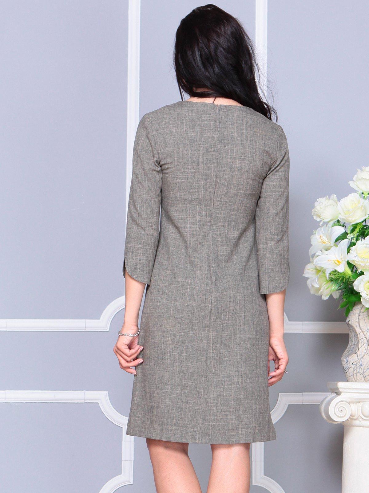 Платье цвета бежевый хаки | 4191518 | фото 2