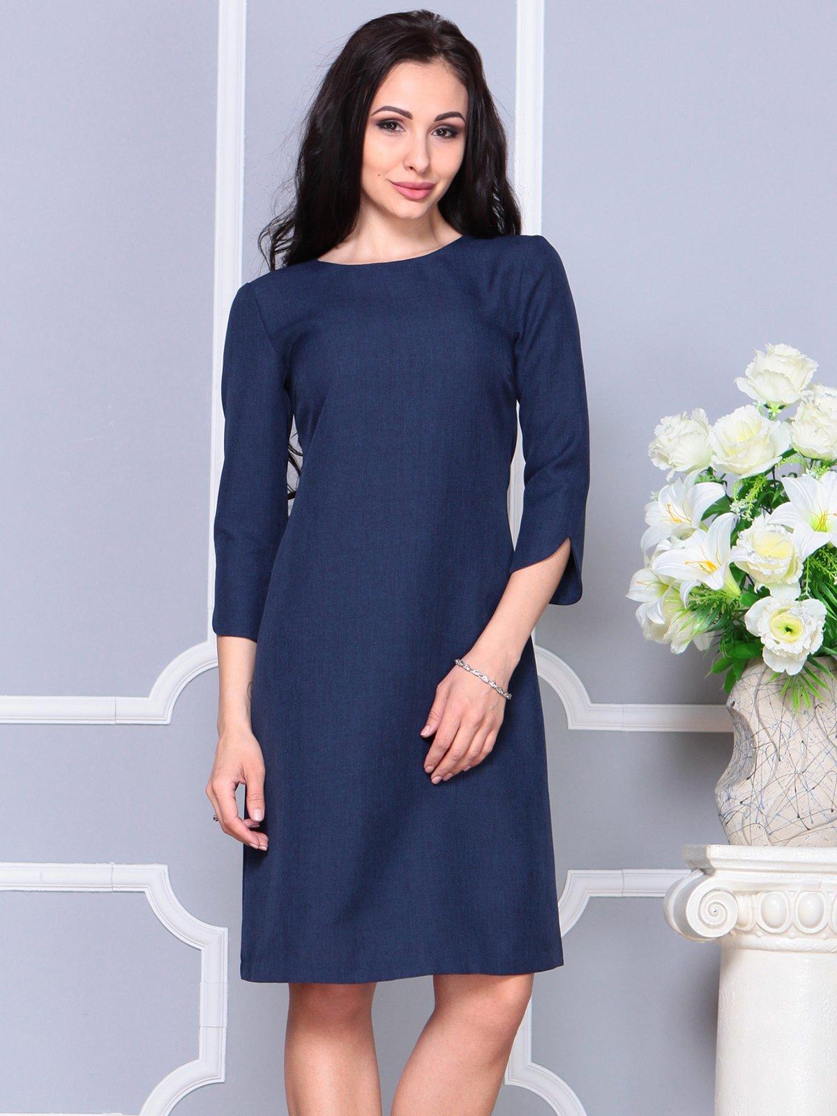 Платье темно-синее | 4191519