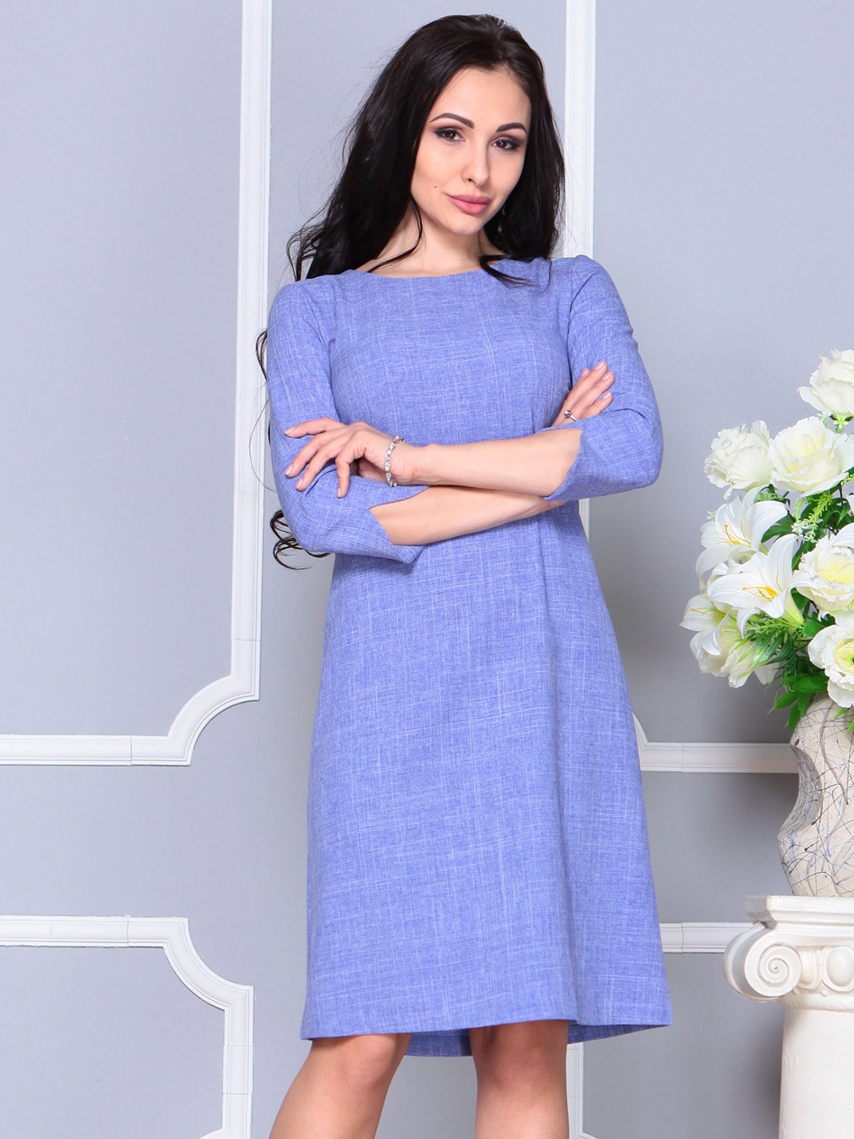 Платье фиолетовое | 4191520 | фото 4