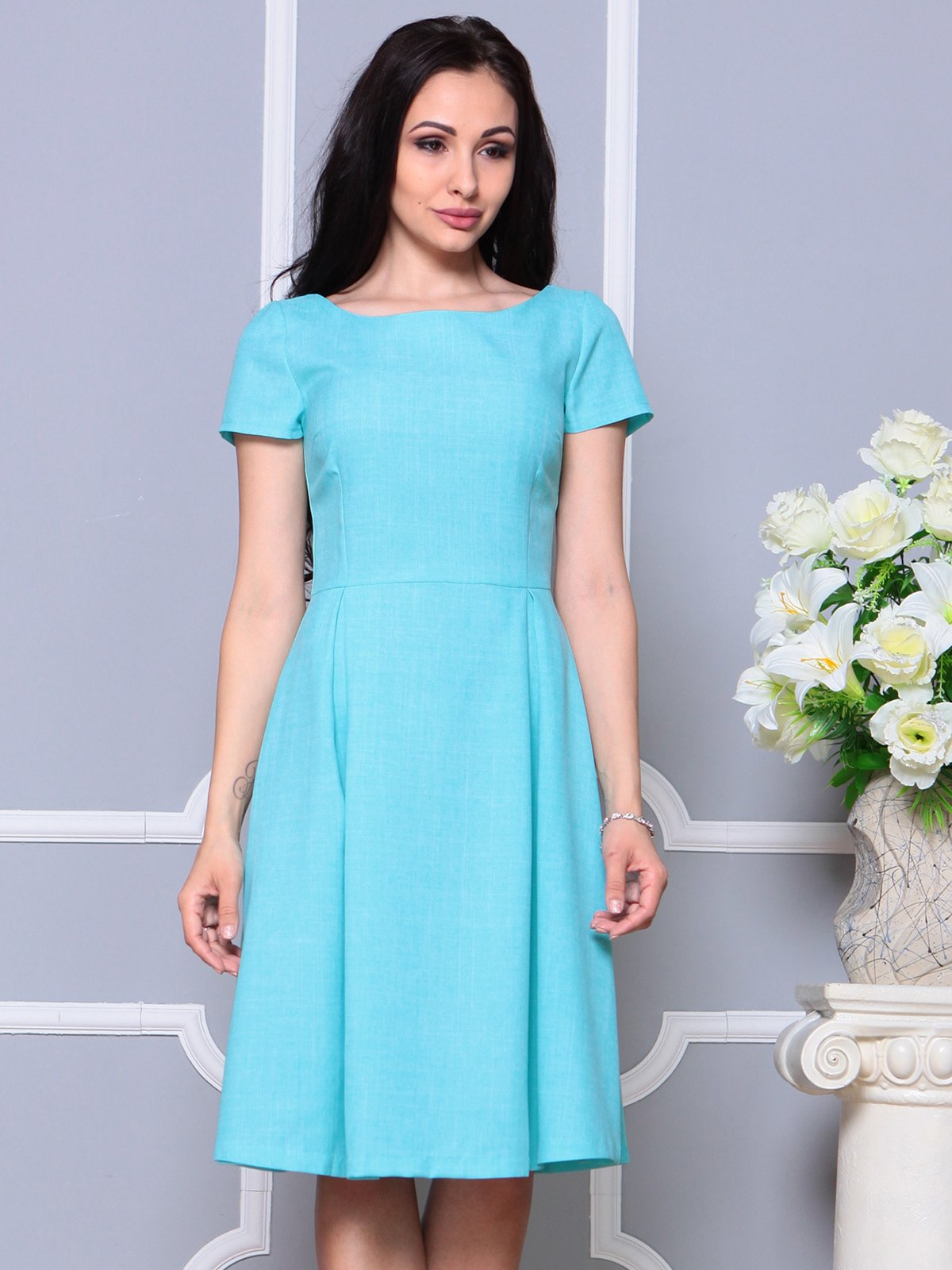 Платье светло-бирюзовое | 4191523 | фото 4