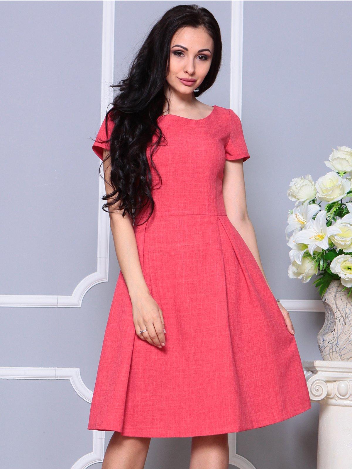 Сукня кольору червоний корал | 4191524