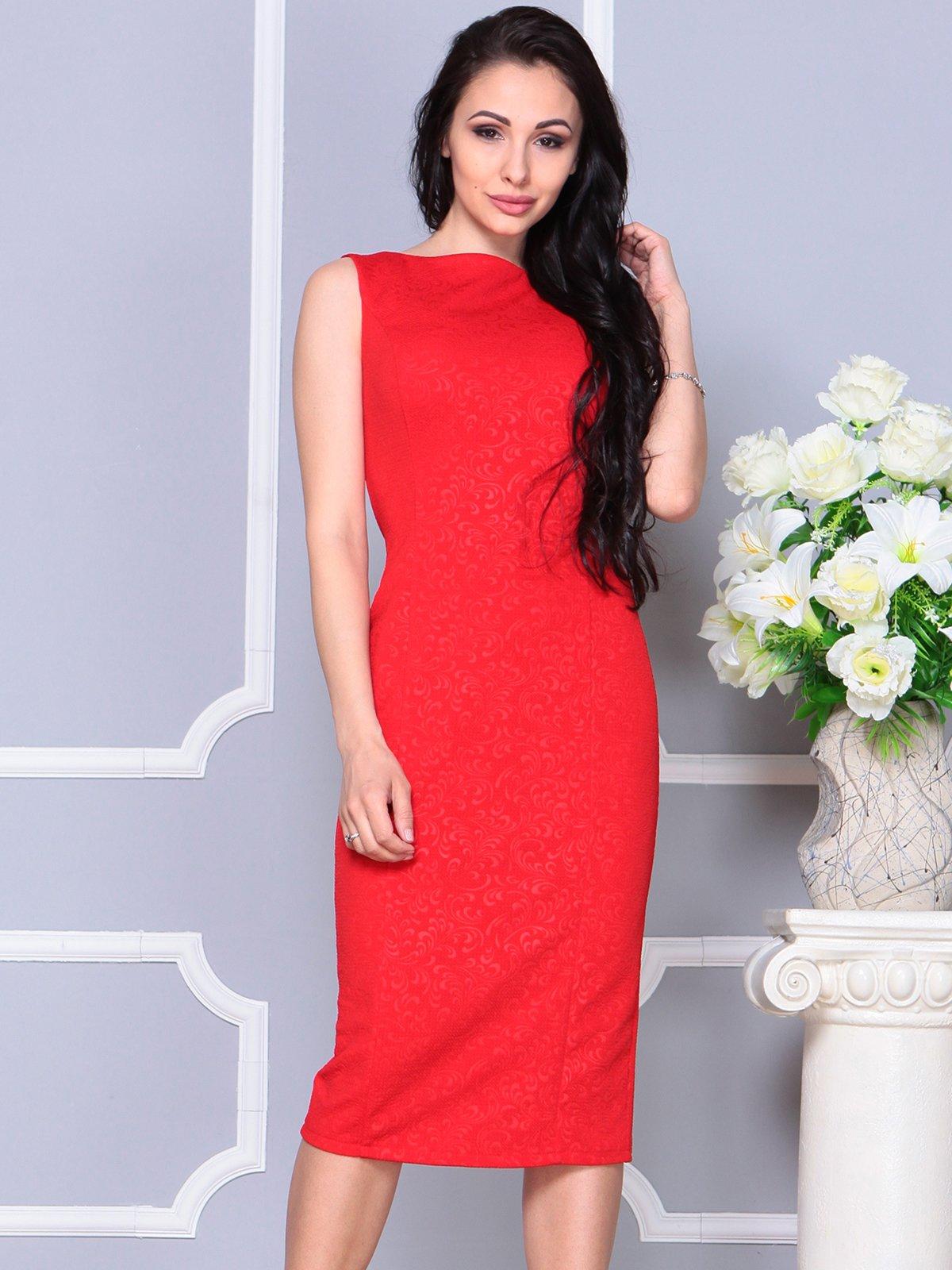 Платье красное   4191529   фото 4