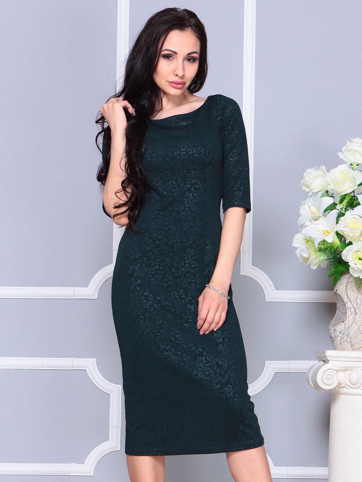 Сукня темно-смарагдова | 4191531