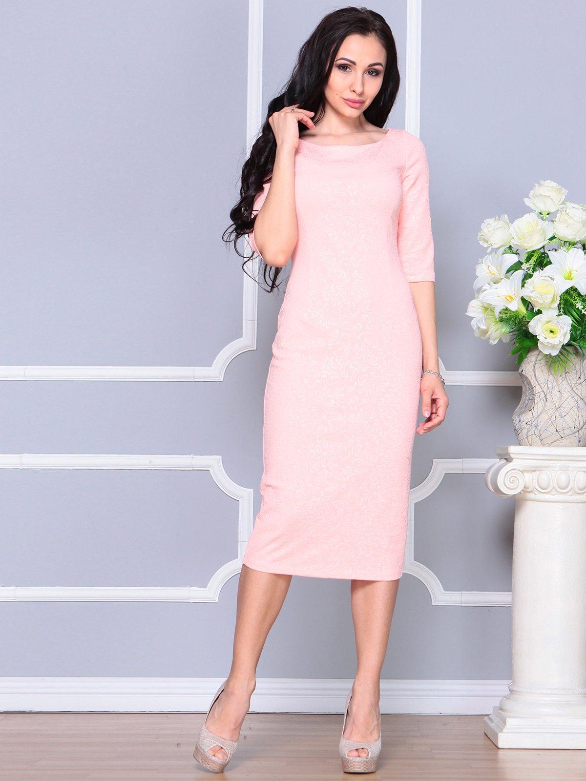 Платье персикового цвета | 4191532 | фото 3