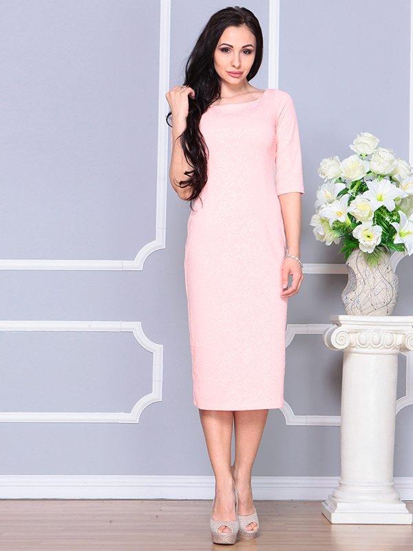 Платье персикового цвета | 4191532 | фото 5
