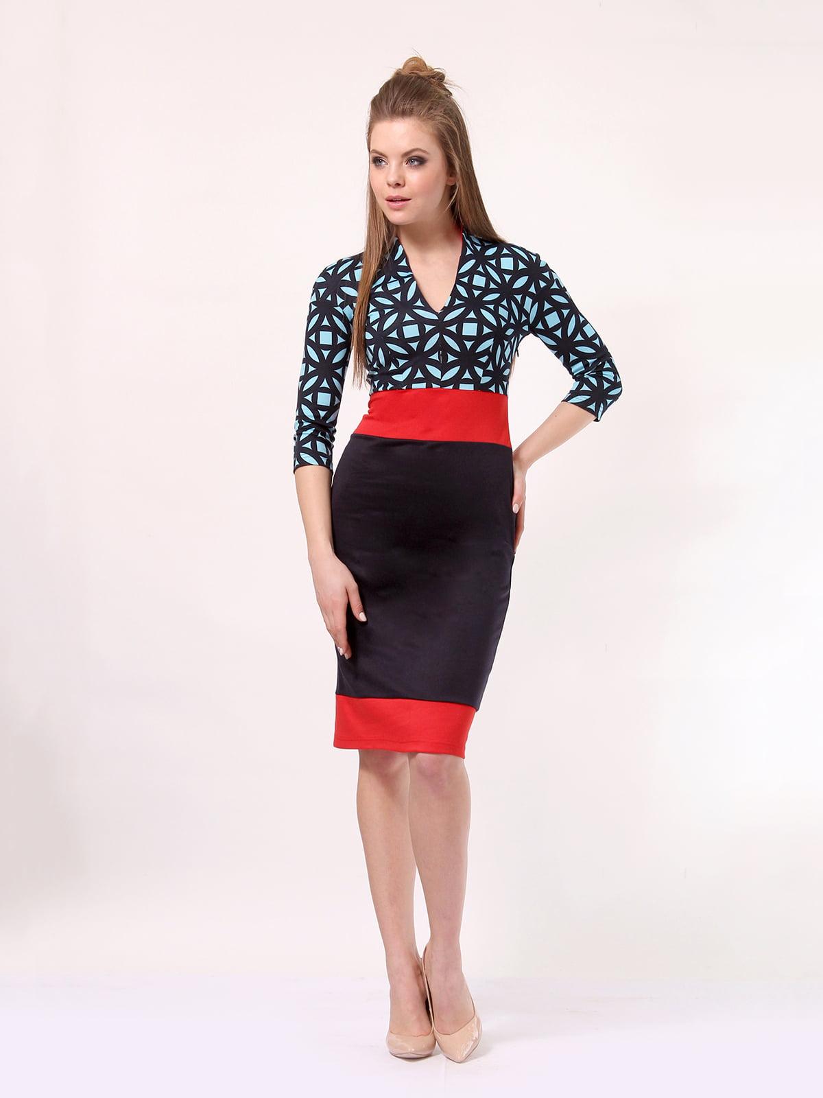 Платье комбинированной расцветки   4187505   фото 2