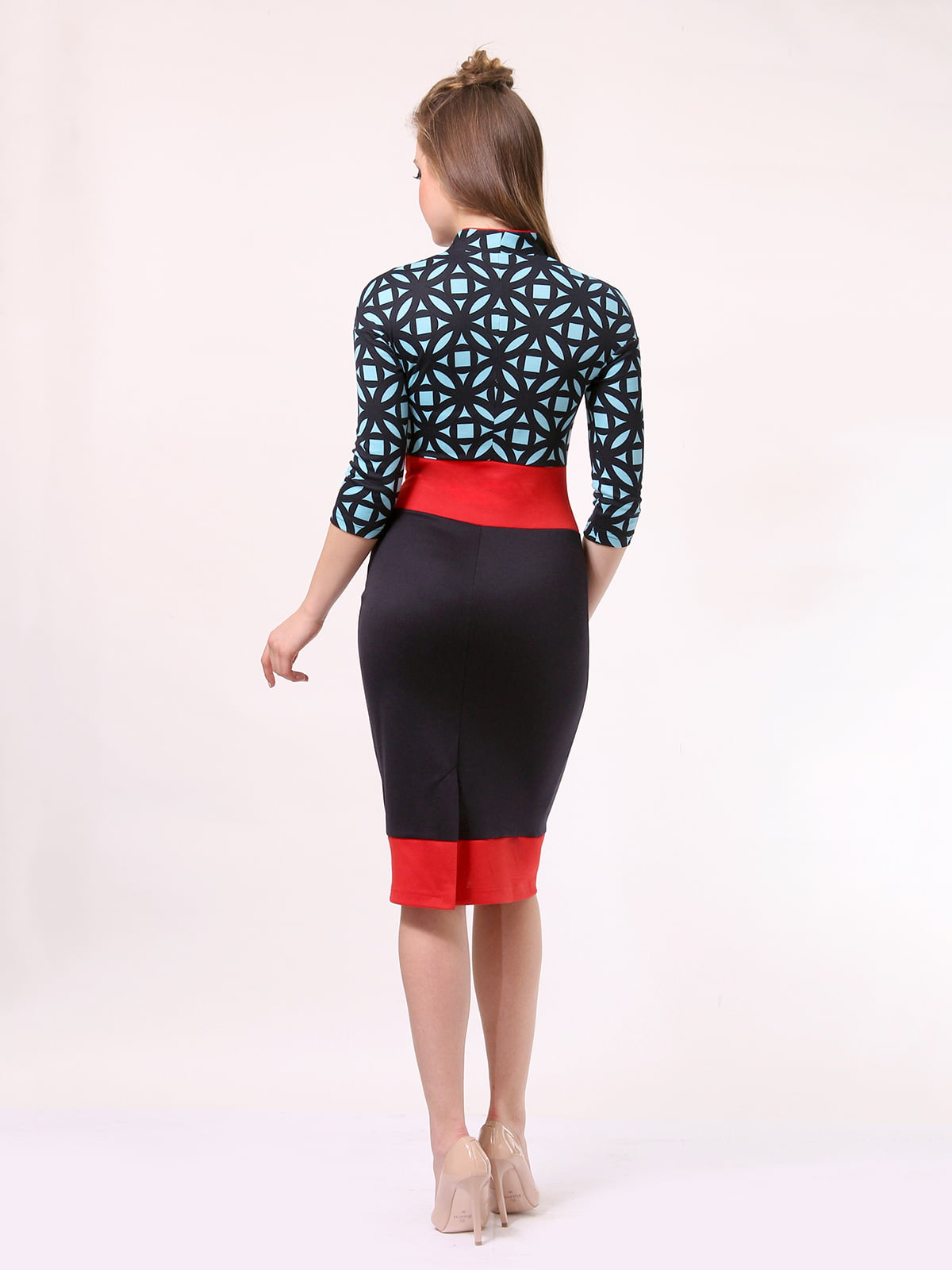Платье комбинированной расцветки   4187505   фото 3