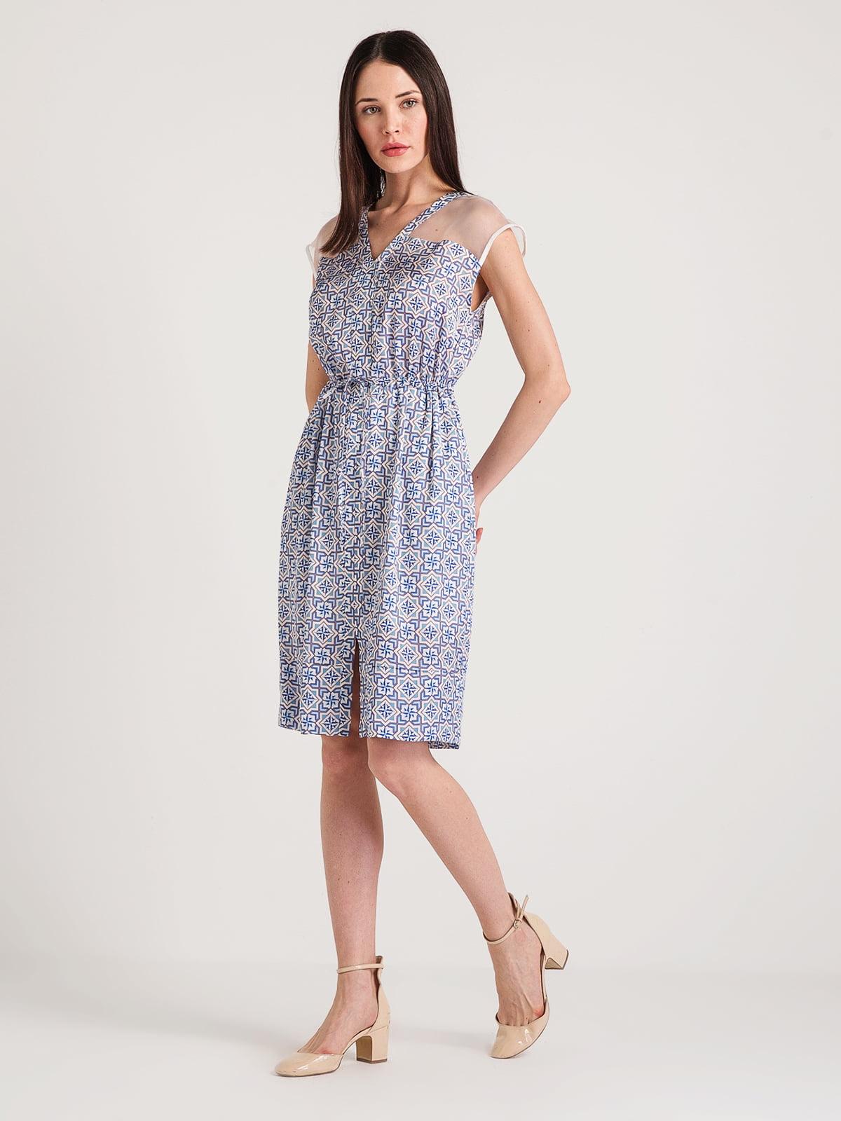 Сукня синя в принт | 4194674