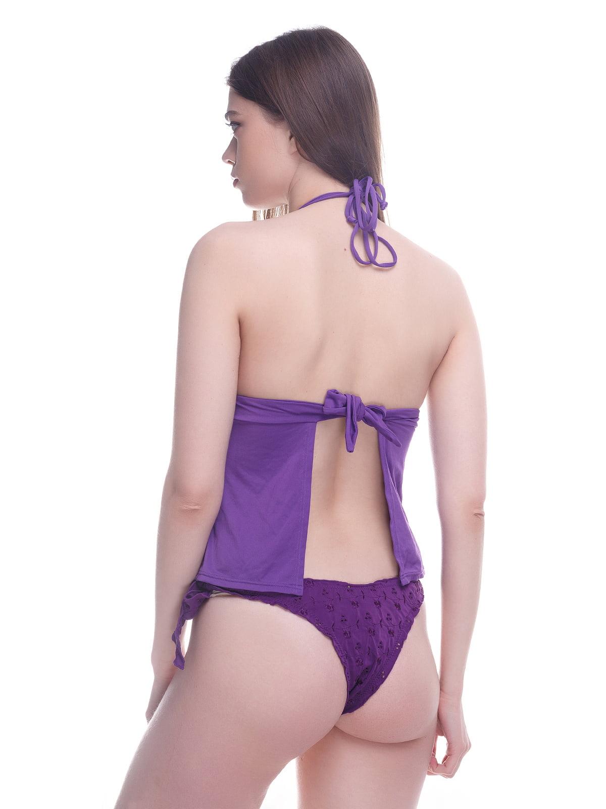 Топ фіолетовий купальний | 4180142 | фото 2