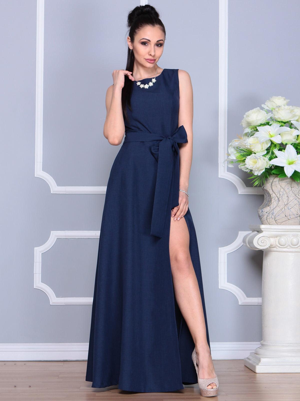 Платье темно-синее | 4201123