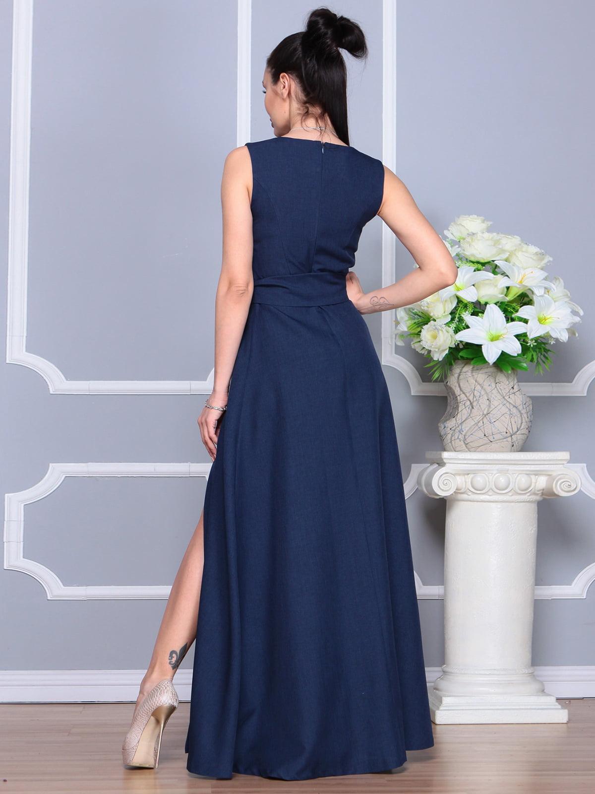 Платье темно-синее | 4201123 | фото 2
