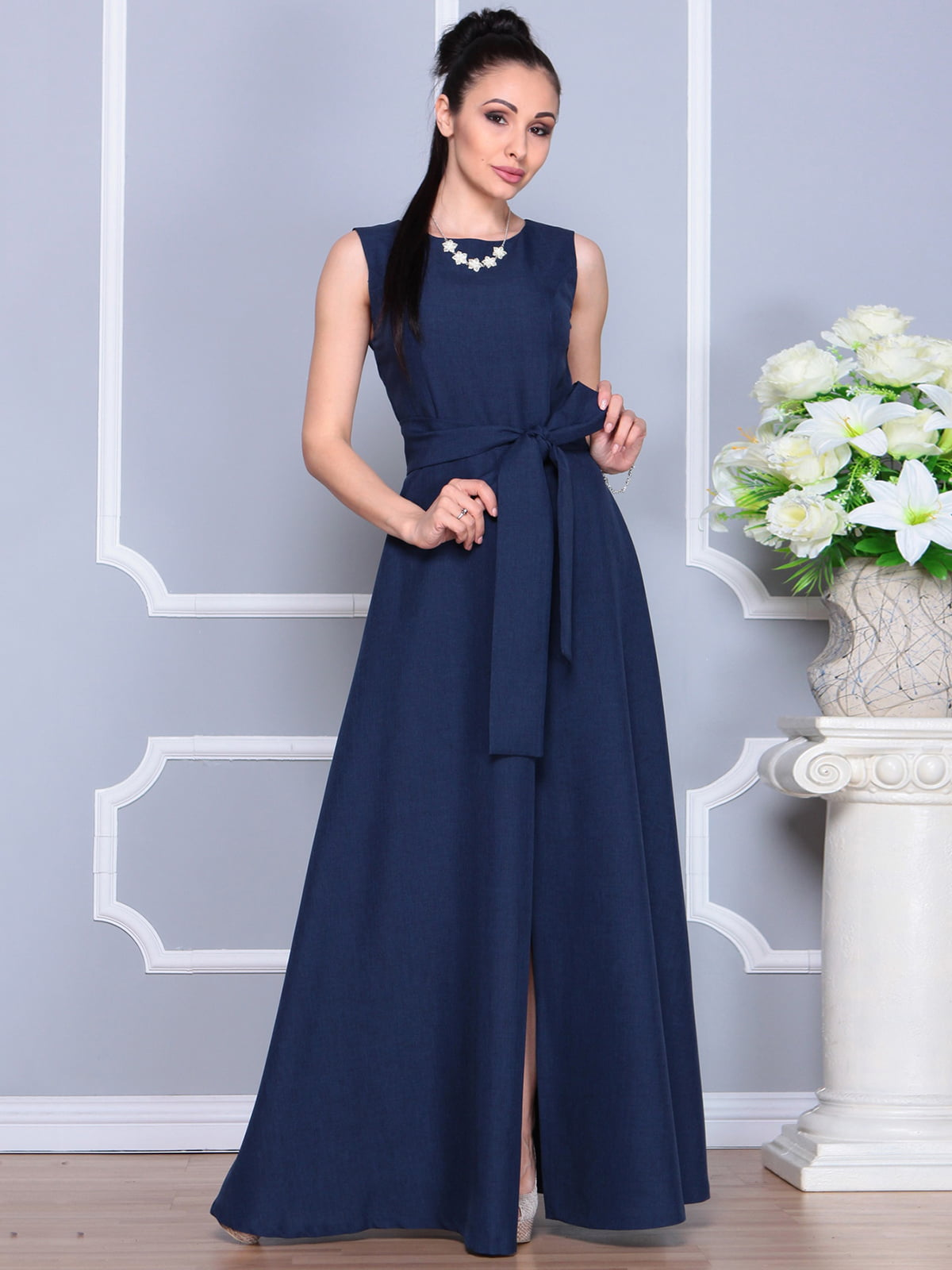 Платье темно-синее | 4201123 | фото 3