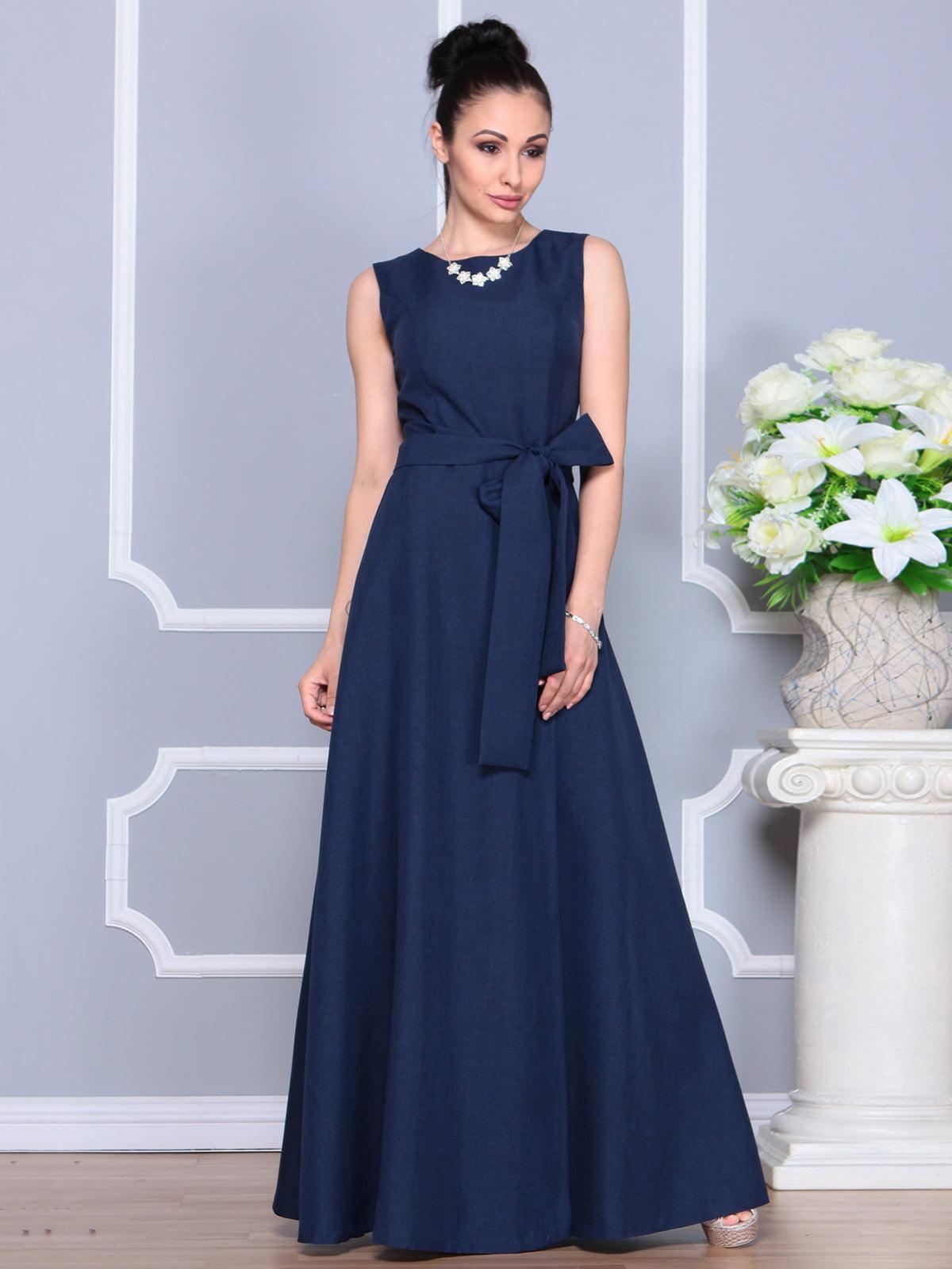 Платье темно-синее | 4201123 | фото 5