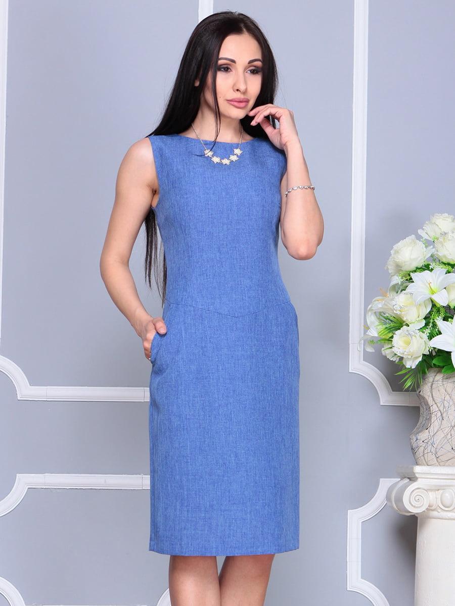 Платье синее | 4201129 | фото 3