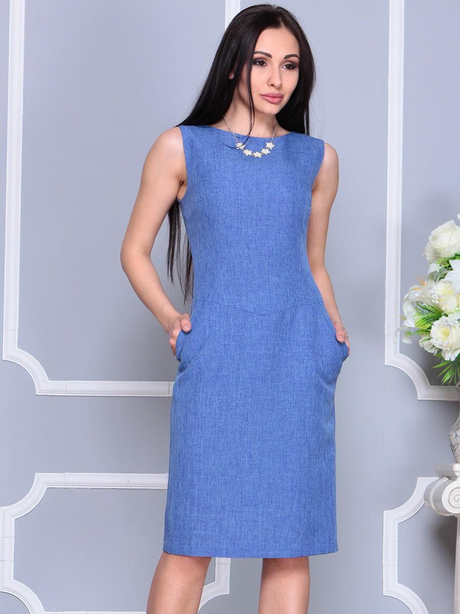 Платье синее | 4201129 | фото 4