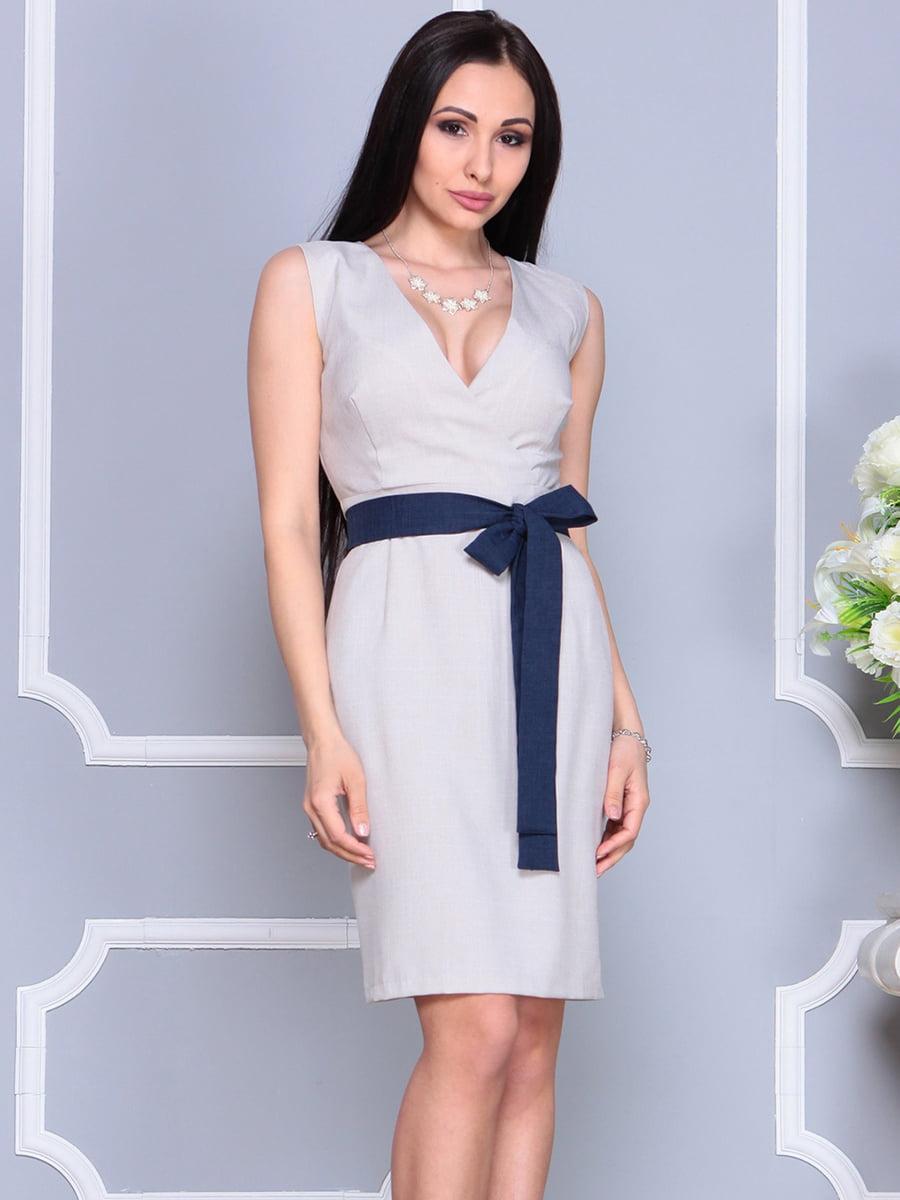 Платье бежевое | 4201133