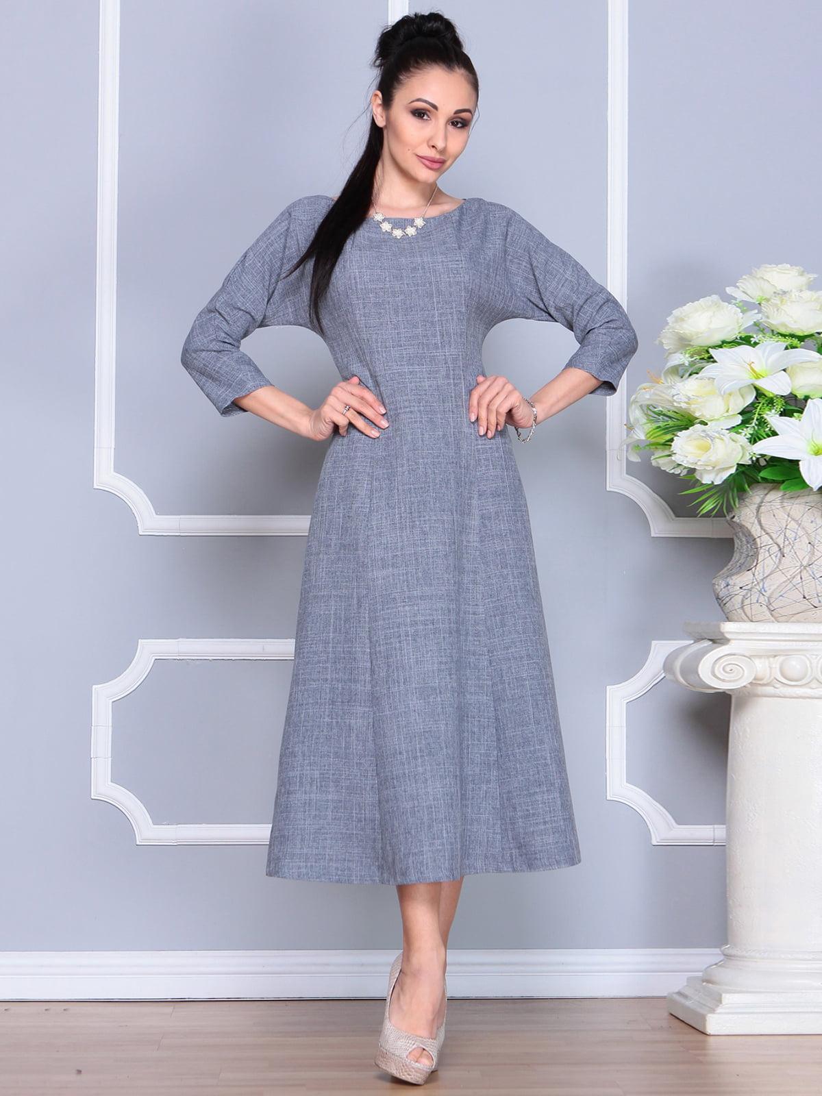 Платье дымчатого цвета | 4201134 | фото 4