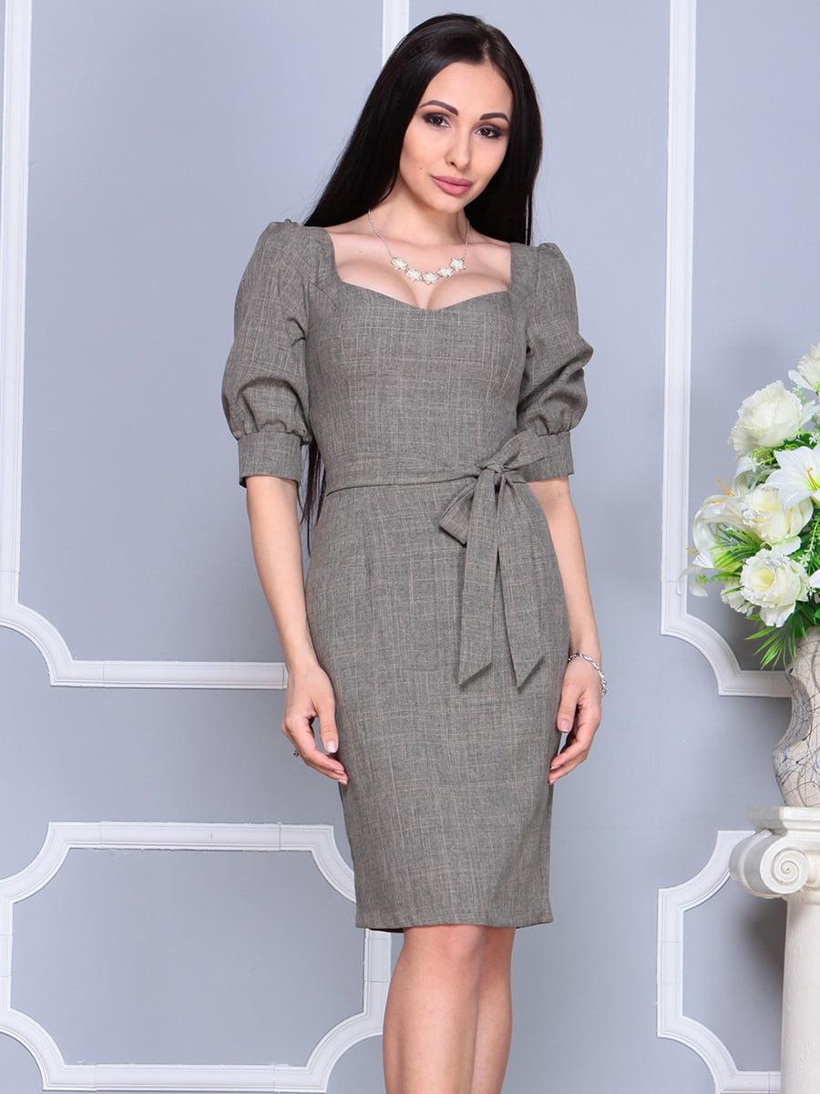 Сукня кольору бежевий хакі | 4201135