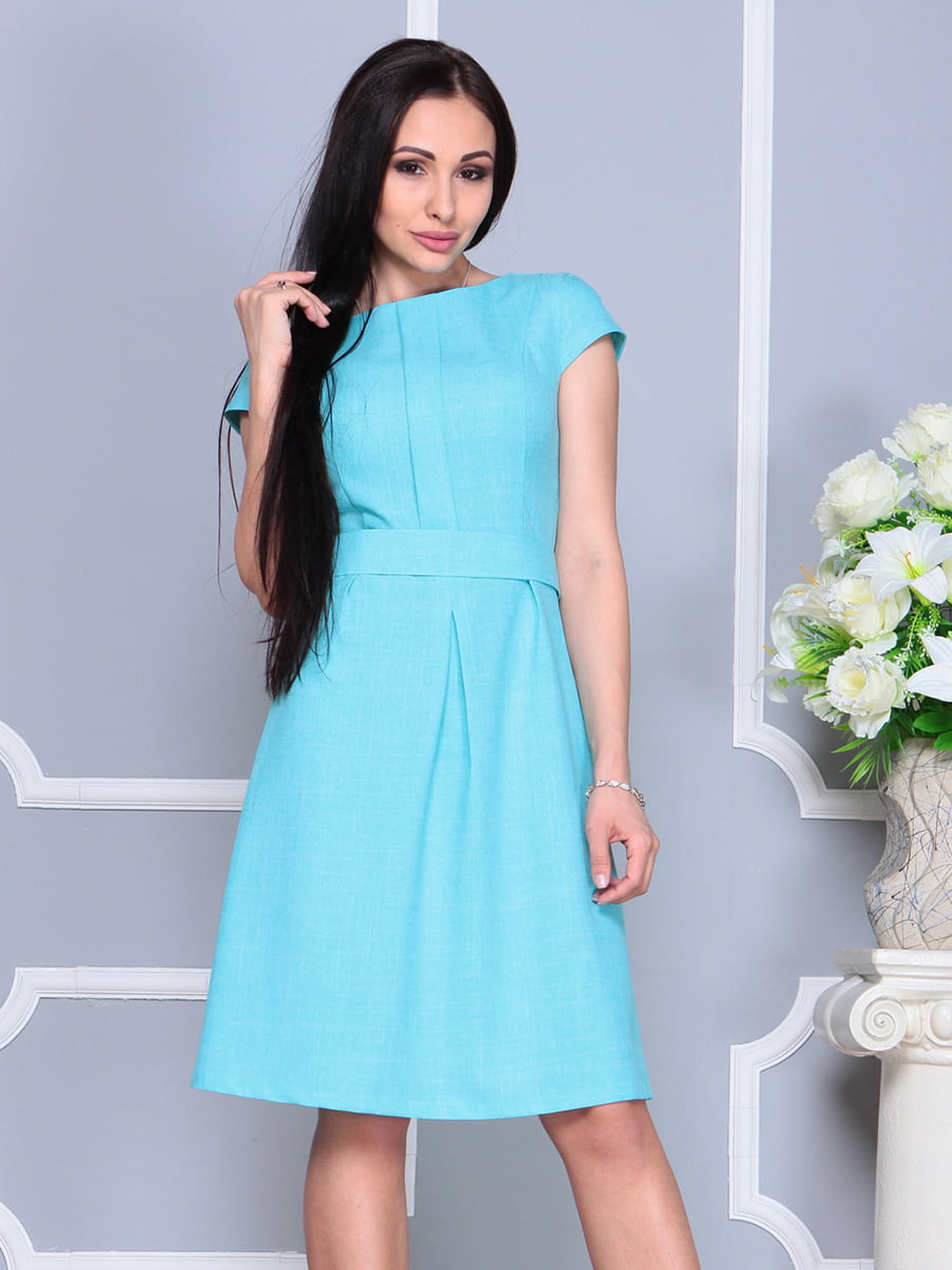 Сукня світло-бірюзова | 4201145