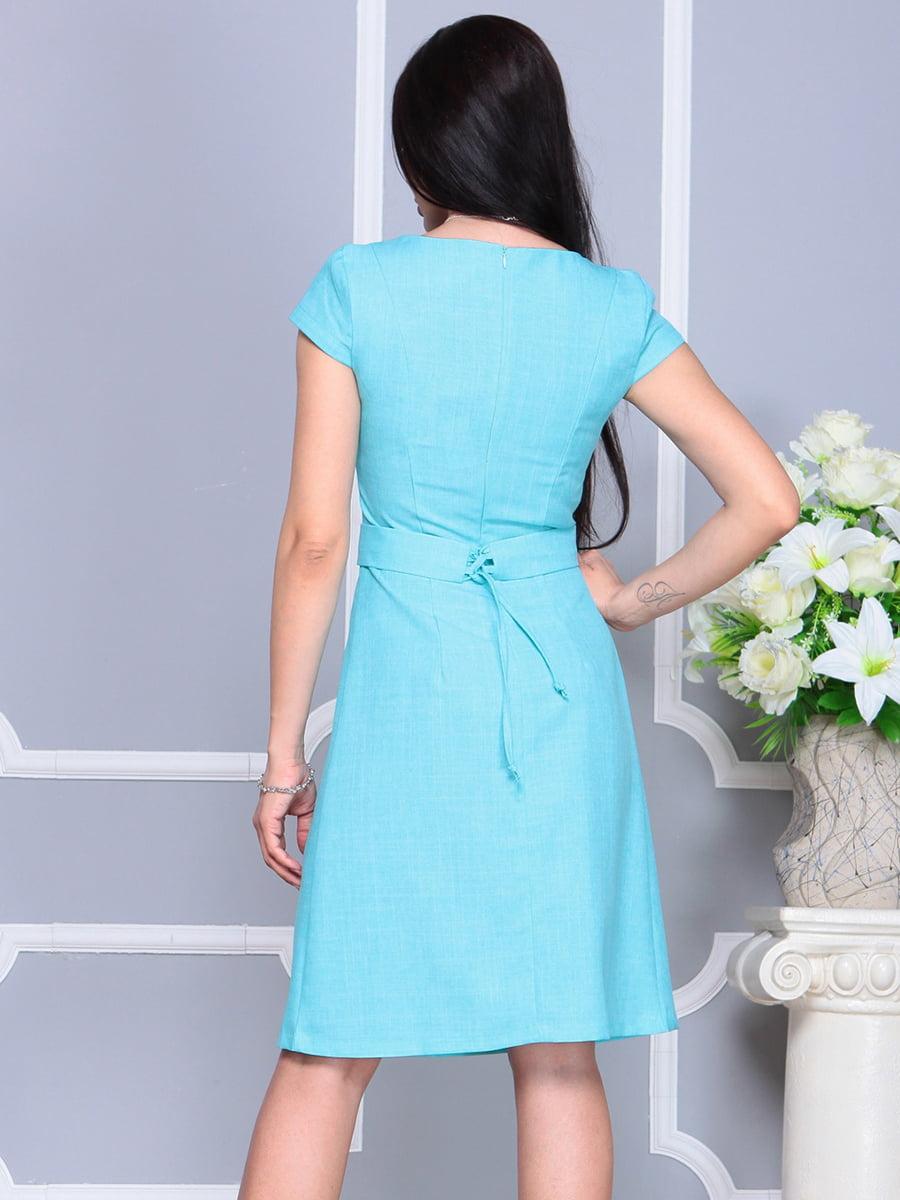 Платье светло-бирюзовое   4201145   фото 2