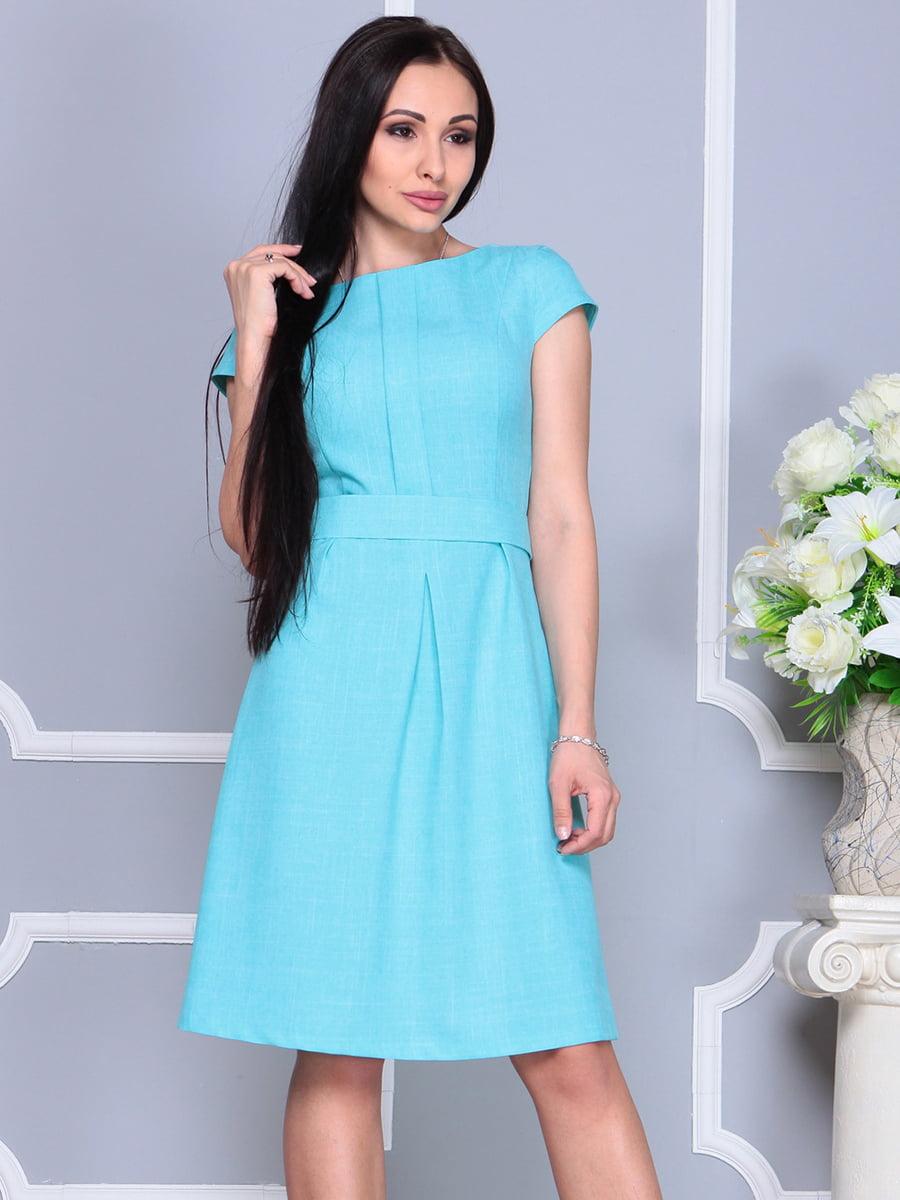 Платье светло-бирюзовое   4201145   фото 3