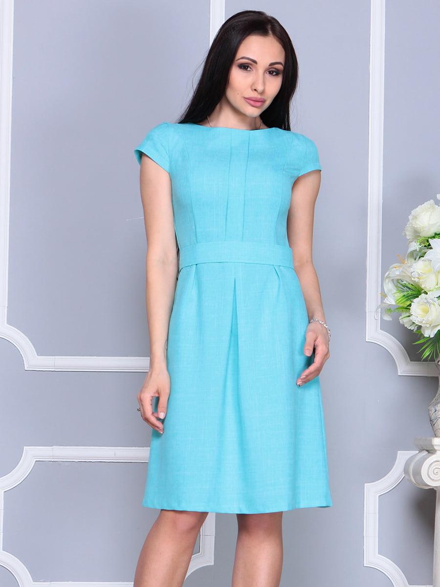 Платье светло-бирюзовое   4201145   фото 4