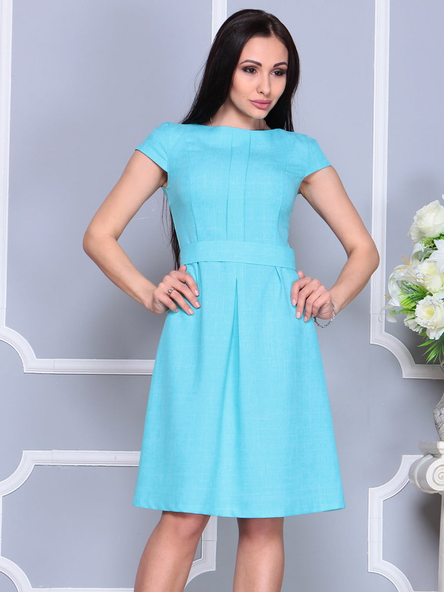 Платье светло-бирюзовое   4201145   фото 5