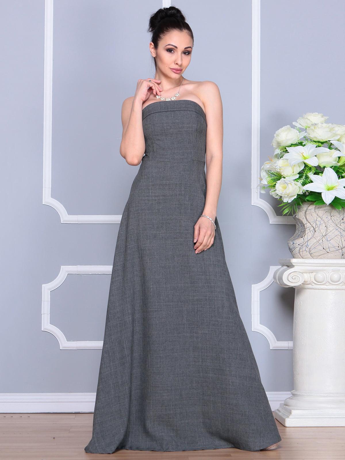 Платье графитовое | 4201151