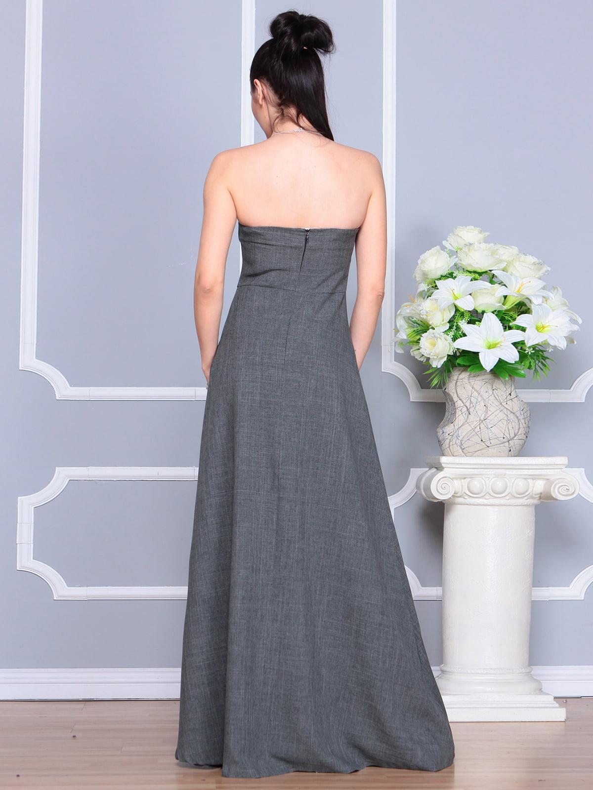 Платье графитовое | 4201151 | фото 2