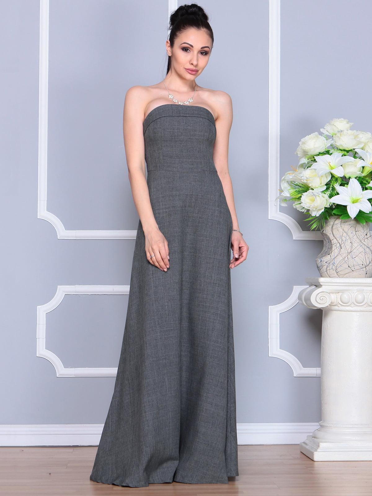 Платье графитовое | 4201151 | фото 3