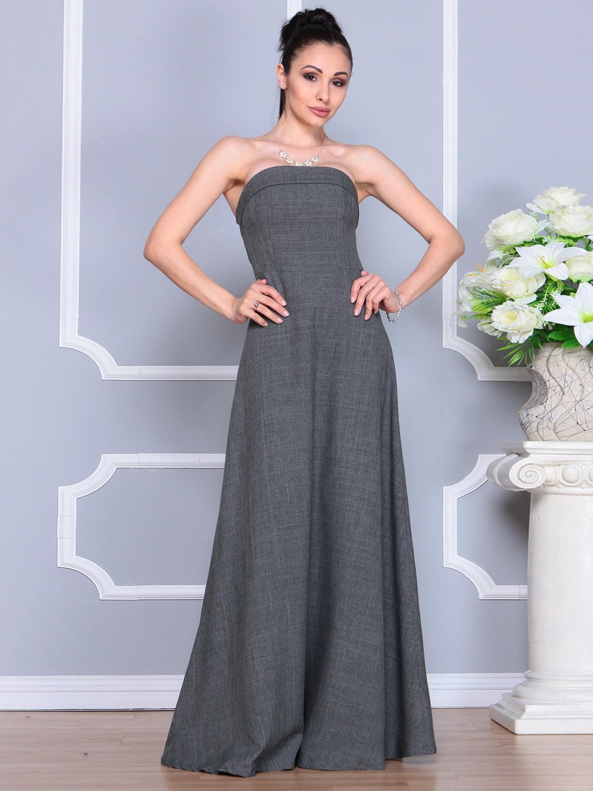 Платье графитовое | 4201151 | фото 4