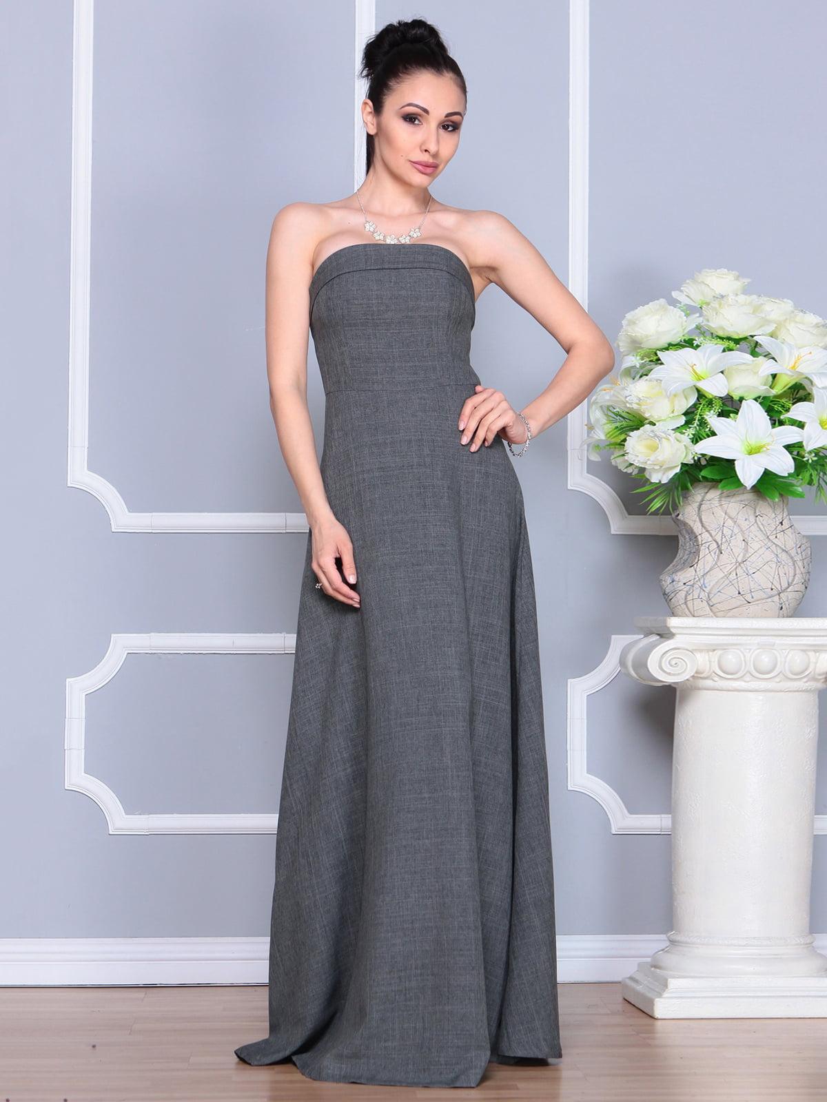 Платье графитовое | 4201151 | фото 5