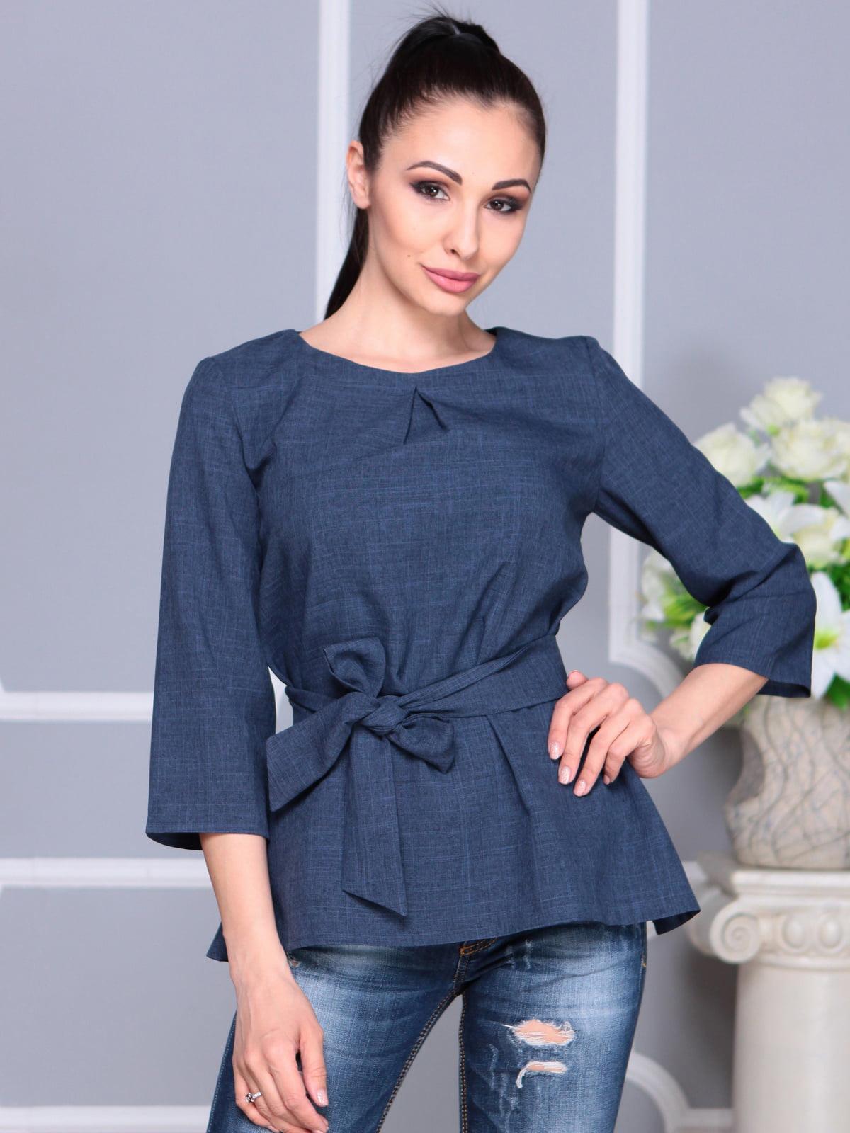 Блуза темно-синя | 4201153